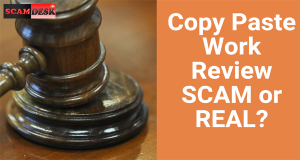 SCAM copy paste work review