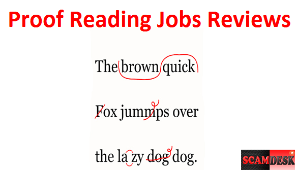 Proof-Reading-Jobs in scamdesk india genuine review