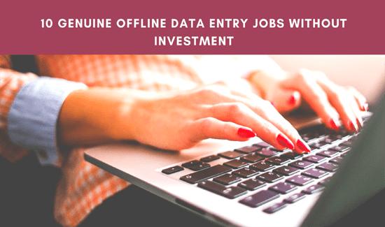 FREE Offline Data Entry Jobs - Sign Up Bonus Rs-399/-
